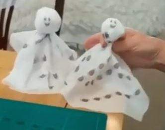 Ghost decorations for halloween