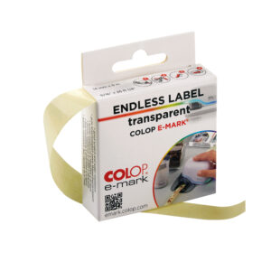 COLOP e-mark transparent label
